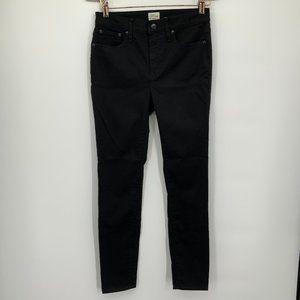 J. Crew Black High - Rise Toothpick Denim Jeans
